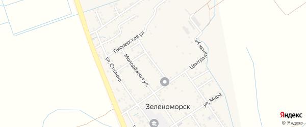 Строительная улица на карте села Зеленоморск с номерами домов