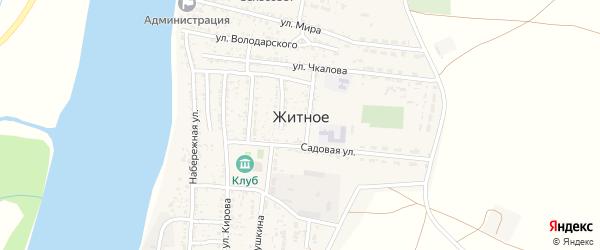Улица Ватутина на карте Житного села Астраханской области с номерами домов