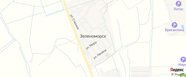 Карта села Зеленоморск в Дагестане с улицами и номерами домов