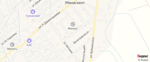 Линия Уйташская 20 на карте села Манаскента Дагестана с номерами домов