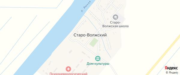 Кооперативная улица на карте Старо-волжского поселка Астраханской области с номерами домов