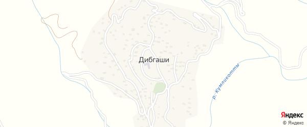 Нижняя улица на карте села Дибгашей с номерами домов