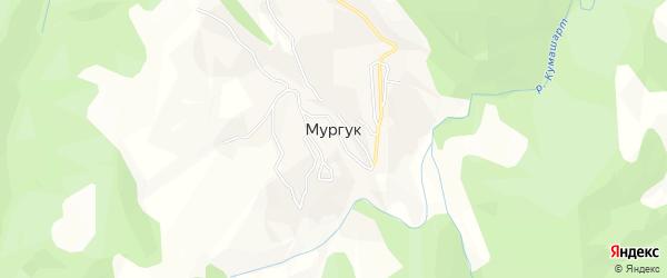 Карта села Мургук в Дагестане с улицами и номерами домов