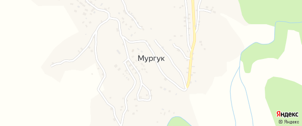 Мургукская улица на карте села Мургук Дагестана с номерами домов