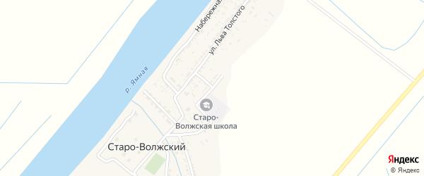 Степная улица на карте Старо-волжского поселка Астраханской области с номерами домов