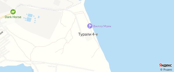 Карта населенного пункта Турали города Махачкалы в Дагестане с улицами и номерами домов