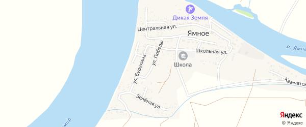 Улица Победы на карте Ямного села Астраханской области с номерами домов