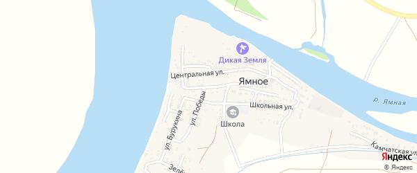 Улица Чичерина на карте Ямного села с номерами домов