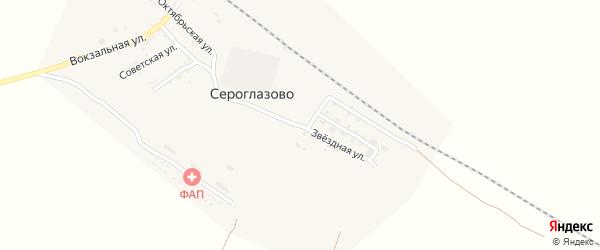 Звездная улица на карте поселка Сероглазово Астраханской области с номерами домов