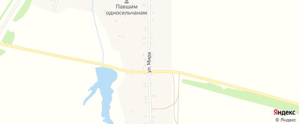 Улица Мира на карте деревни Орнар с номерами домов