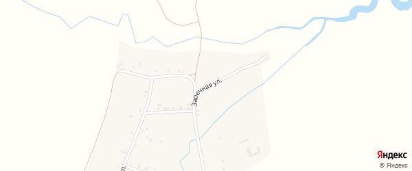 Заречная улица на карте деревни Орнар Чувашии с номерами домов