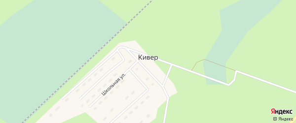 Улица У станции на карте железнодорожной станции Кивера Архангельской области с номерами домов