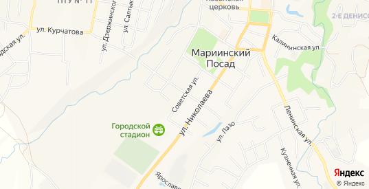 СТ Калинка на карте Мариинского Посада с номерами домов