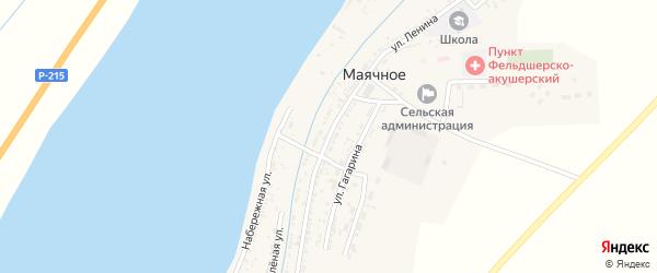 Улица Ленина на карте Маячного села Астраханской области с номерами домов