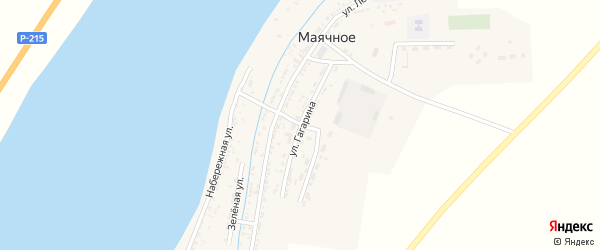 Улица Гагарина на карте Маячного села Астраханской области с номерами домов