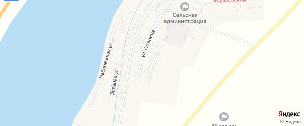Улица 40 лет Победы на карте Маячного села Астраханской области с номерами домов