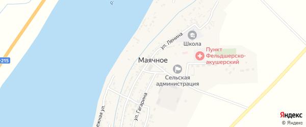 Запоромная улица на карте Маячного села Астраханской области с номерами домов