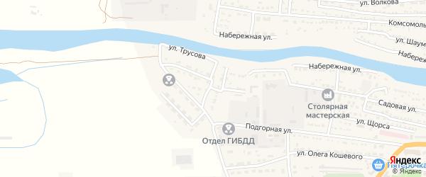 Южная улица на карте Икряного села Астраханской области с номерами домов