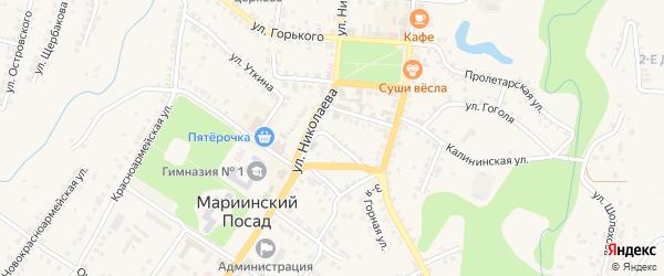 Улица Шабанова на карте Мариинского Посада с номерами домов