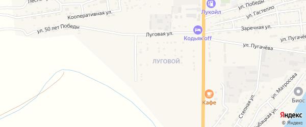 Луговая улица на карте Икряного села Астраханской области с номерами домов