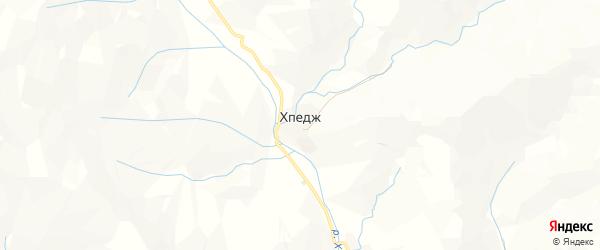 Карта села Хпеджа в Дагестане с улицами и номерами домов