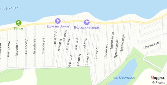СТ Волжские зори 7-й проезд в Балаково с номерами домов на карте. Спутник и схема онлайн