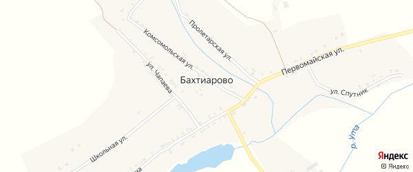 Первомайская улица на карте деревни Бахтиарово с номерами домов