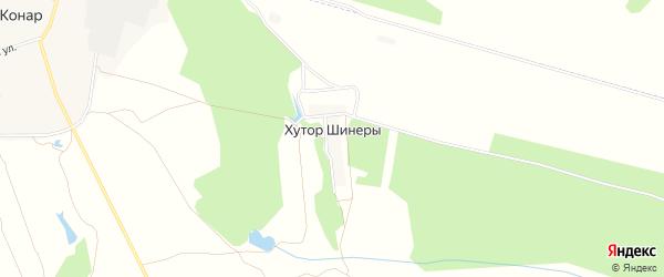 Карта деревни Хутора Шинеры в Чувашии с улицами и номерами домов