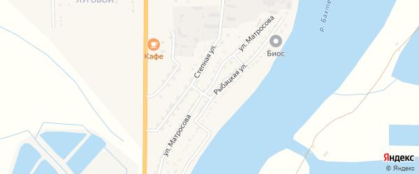 Улица Матросова на карте Икряного села Астраханской области с номерами домов
