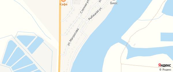 Рыбацкая улица на карте Икряного села с номерами домов