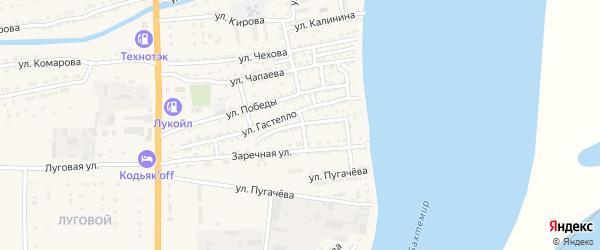Улица Савелия Амосова на карте Икряного села Астраханской области с номерами домов
