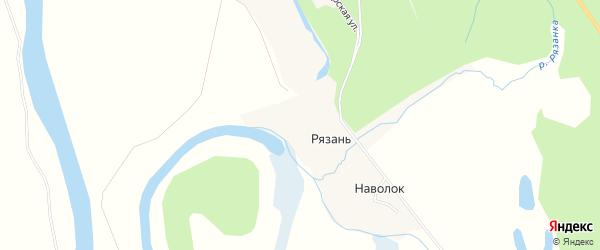 Карта деревни Рязани в Архангельской области с улицами и номерами домов