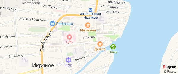 Улица Ленина на карте Икряного села Астраханской области с номерами домов