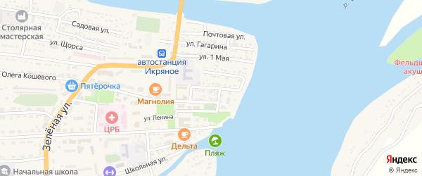 Советская улица на карте Икряного села Астраханской области с номерами домов