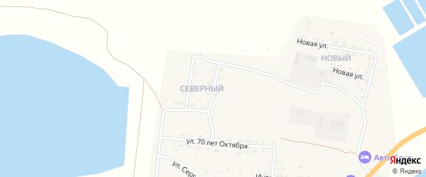 Северная улица на карте Икряного села Астраханской области с номерами домов