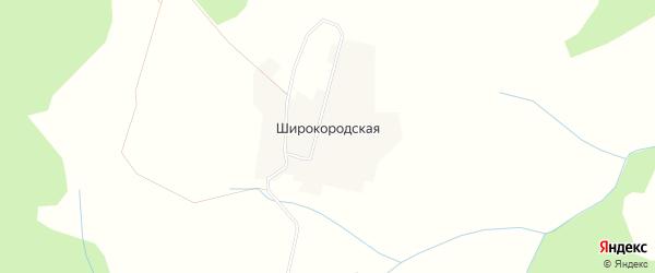 Карта Широкородской деревни в Кировской области с улицами и номерами домов