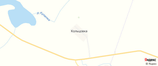 Карта хутора Кольцовки в Ульяновской области с улицами и номерами домов