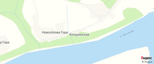 Карта Кочуринской деревни в Архангельской области с улицами и номерами домов