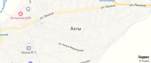 Улица К.Меджидова на карте села Ахт с номерами домов