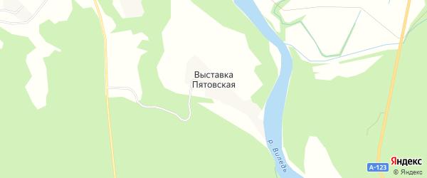 Карта Выставки Пятовской деревни в Архангельской области с улицами и номерами домов