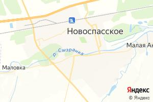Карта пгт Новоспасское Ульяновская область