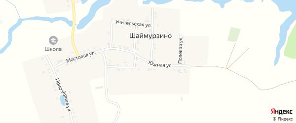 Южная улица на карте деревни Шаймурзино с номерами домов