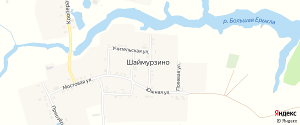 Улица Петрова на карте деревни Шаймурзино Чувашии с номерами домов