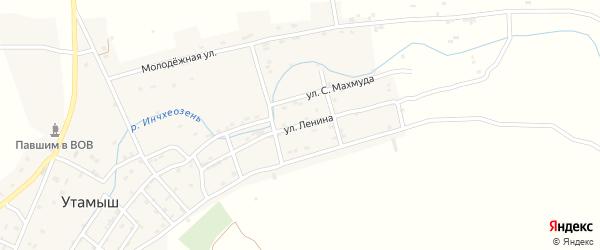 Улица Ленина на карте села Утамыша с номерами домов
