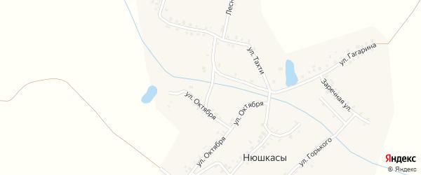 Овражная улица на карте деревни Нюшкас с номерами домов