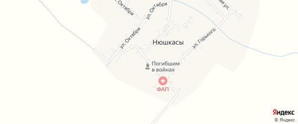 Улица Серго на карте деревни Нюшкас с номерами домов