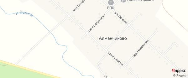 Советская улица на карте села Алманчиково с номерами домов