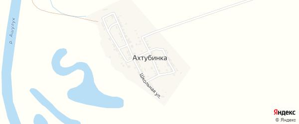 Въезжая улица на карте села Ахтубинки Астраханской области с номерами домов