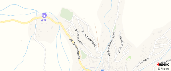 Улица Э.Салихова на карте села Кураха Дагестана с номерами домов