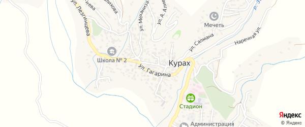 Улица Ленина на карте села Кураха Дагестана с номерами домов